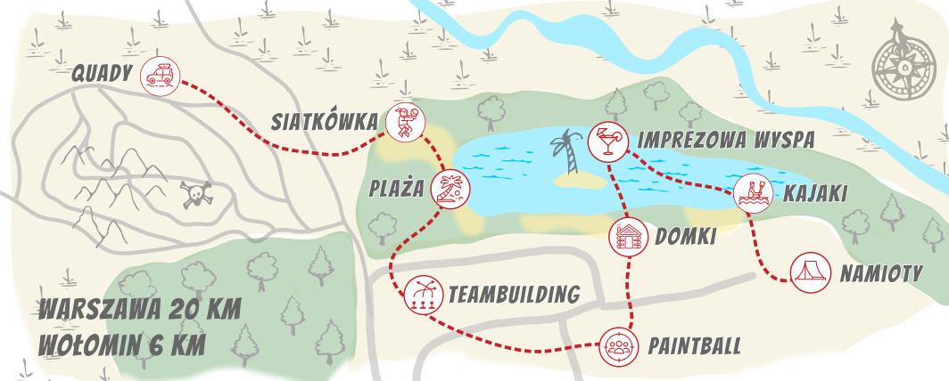 mapa centrum rozrywki mainevent